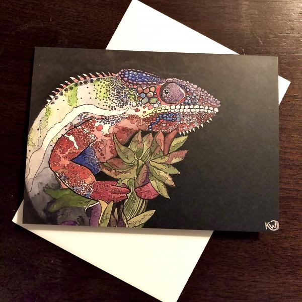 Panther Chameleon Greeting Card