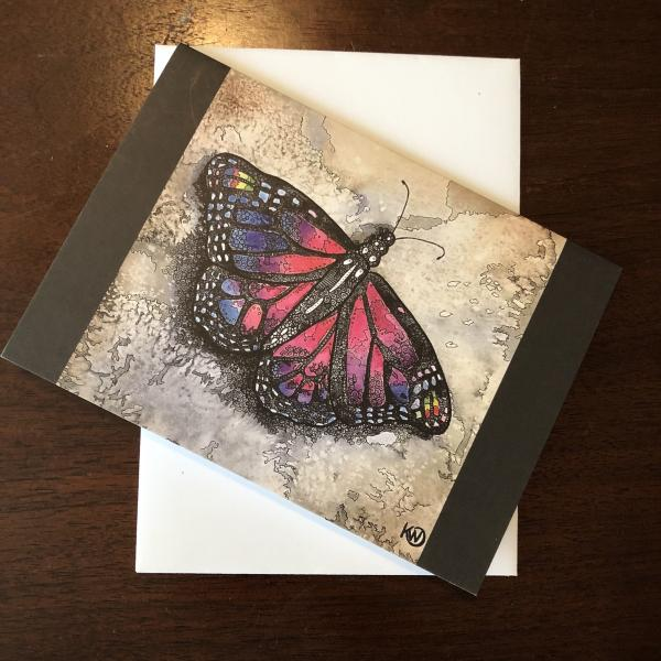 Amethyst Butterfly Greeting Card