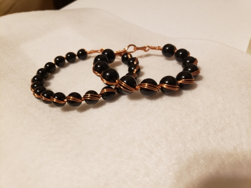 Bead and Copper Bracelet