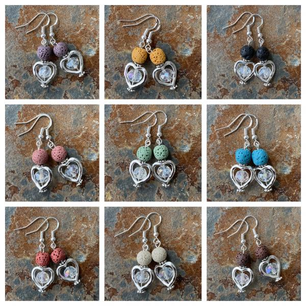 Diffuser heart earrings