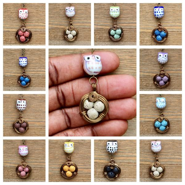 Owl diffuser necklaces