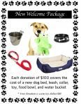 Welcome Package for New Rescue Dog Joining PAWS4you