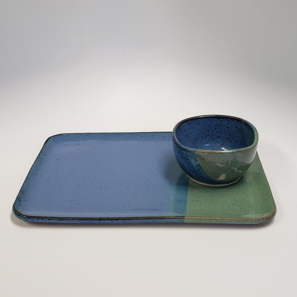 7673 - Large Platter and Small Matching Bowl #3