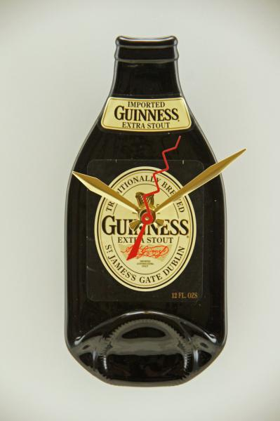 Recycled Guinness Bottle Clock.