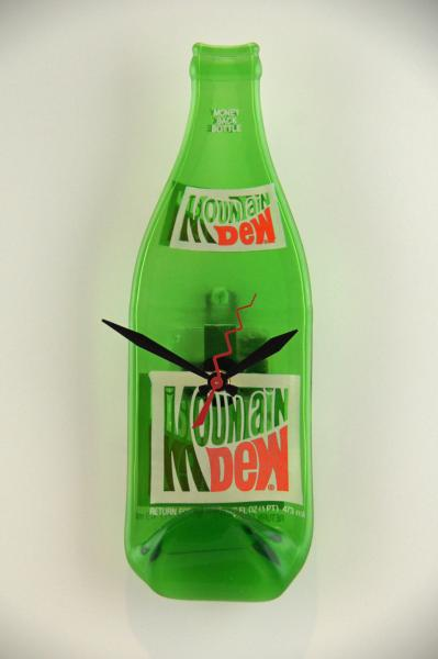 Recycled Mountain Dew Bottle Clock