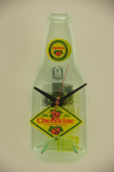 Recycled 80's Vintage Cheerwine Bottle Clock