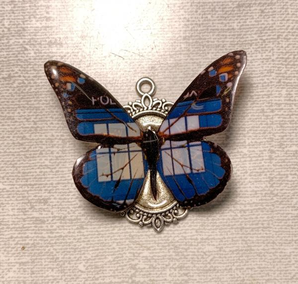 Doctor Whom butterfly pendant