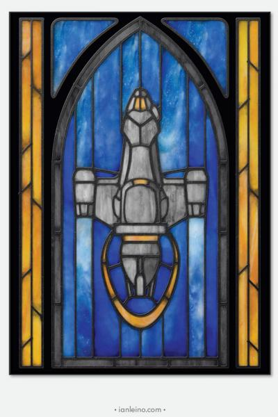 "Firefly ""Serenity"" - Stained Glass window cling"