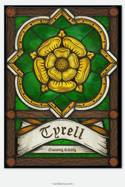 "Game of Thrones ""House Tyrell"" - Stained Glass window cling"