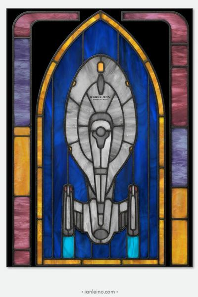 Voyager - Stained Glass window cling