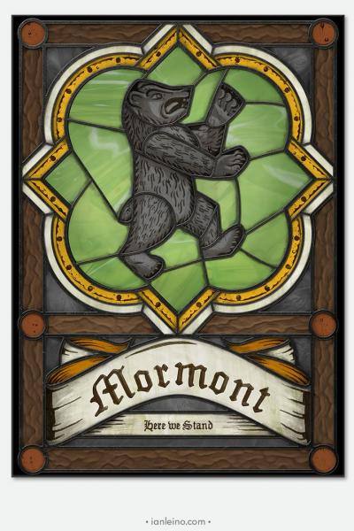 "Game of Thrones ""House Mormont"" - Stained Glass window cling"