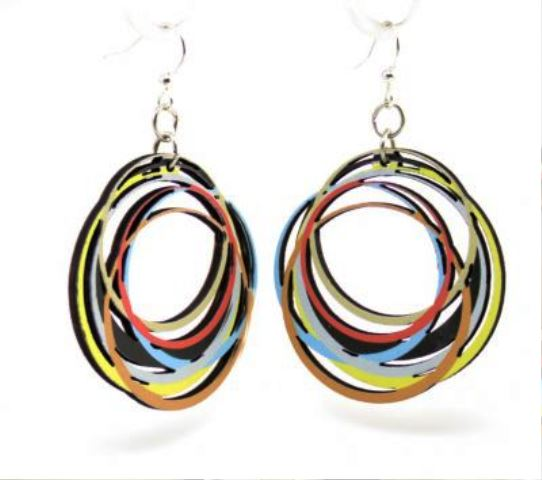 GT Earrings - MultiColored Circles - 520-1524 picture