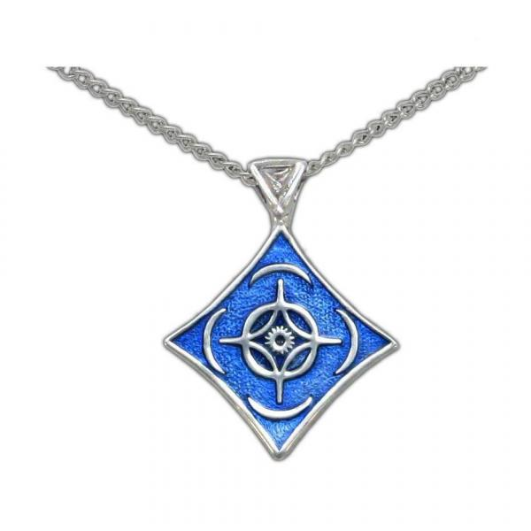 Cosmere Pendant - Enameled Silver