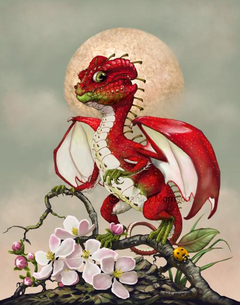 Garden Dragons (Fruits)Prints