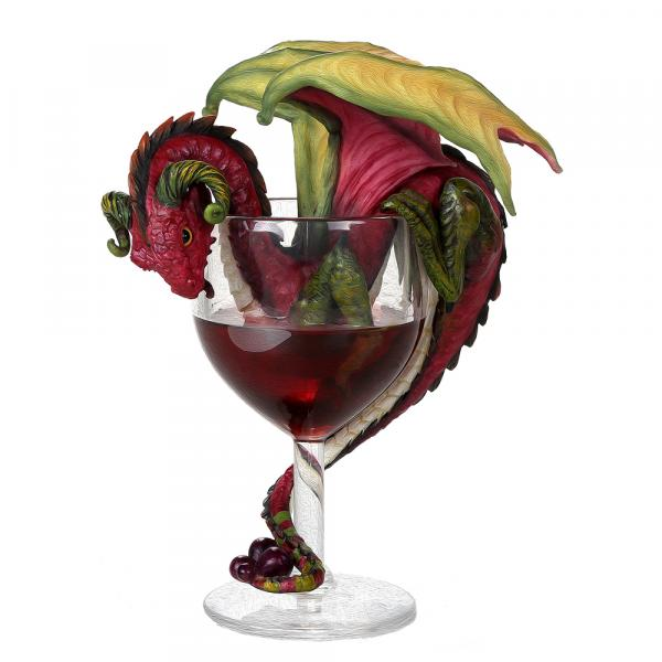 Red Wine Dragon Figurine