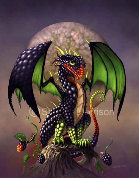 Garden Dragon (Berry Dragons)Prints