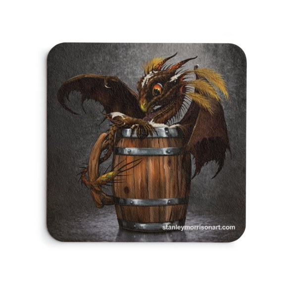 4x4 Dark Beer Dragon Drink Coaster