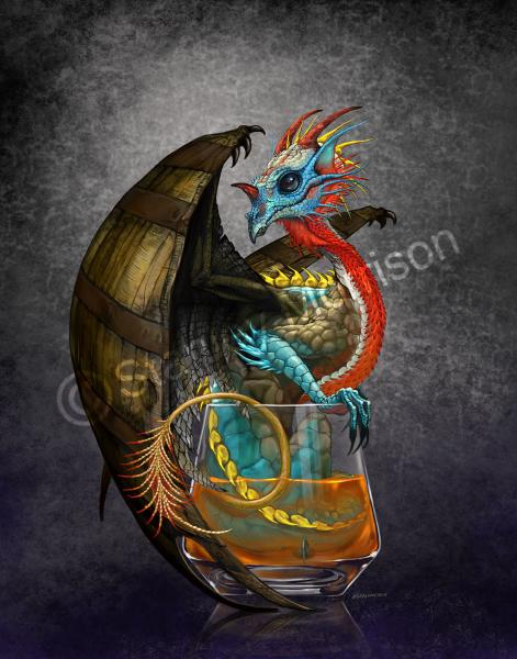 4x4 Bourbon Dragon Drink Coaster