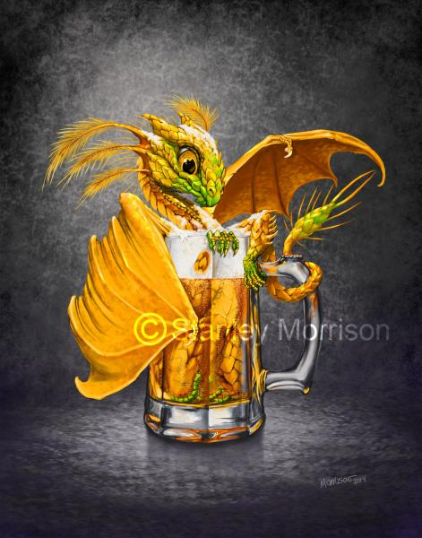 Drinks & Dragons (drink glasses) Prints