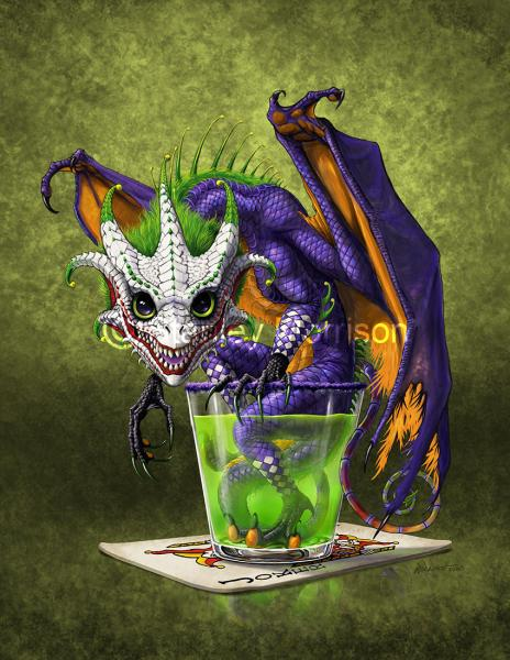 4x4 Jokers Wild Dragon Drink Coaster