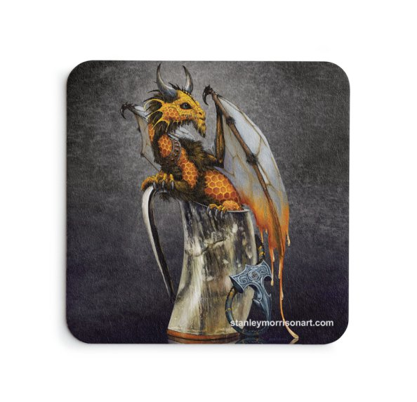 4x4 Mead Dragon Drink Coaster