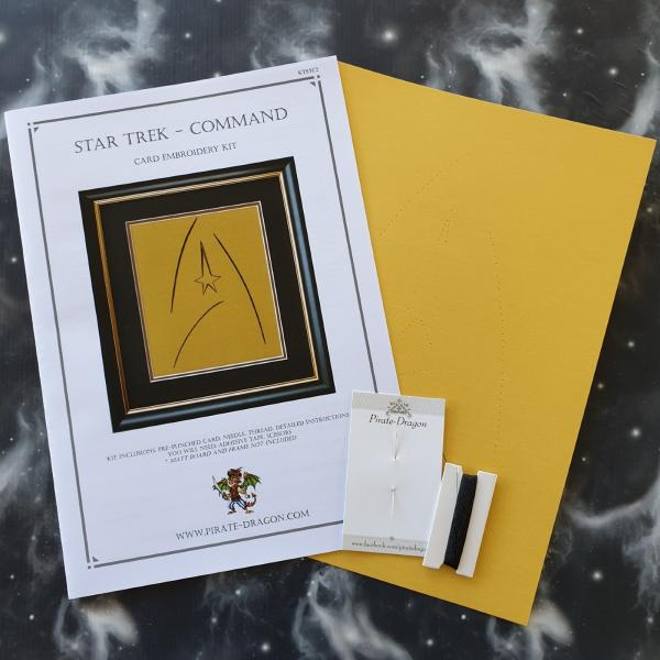 Star Trek - COMMAND Badge Inspired Card Embroidery Kit (Yellow Card)