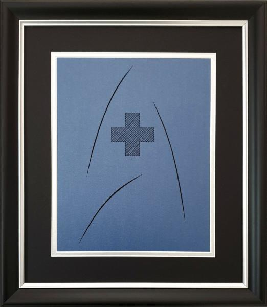 Star Trek - MEDICAL Badge Inspired Card Embroidery Kit (Blue) picture