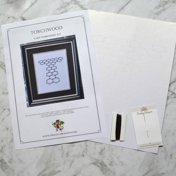 Torchwood Card Embroidery Kit (White Card)