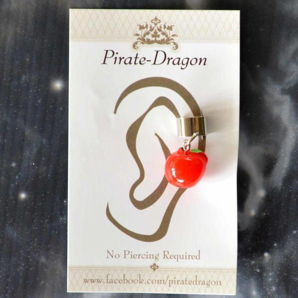 Red Apple Non-Pierced Ear Cuff (EC2856)