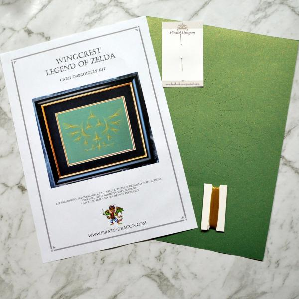 Legend of Zelda Inspired Embroidery Kit (Green Card)