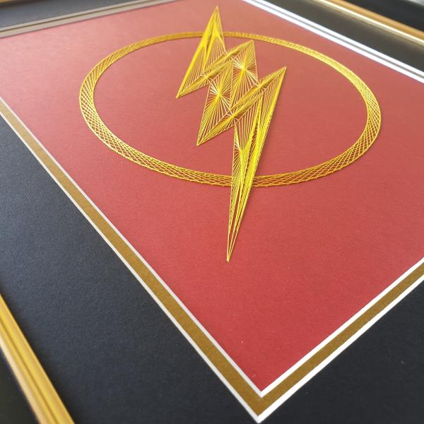 The Flash Inspired Card Embroidery Kit (Red Card) picture