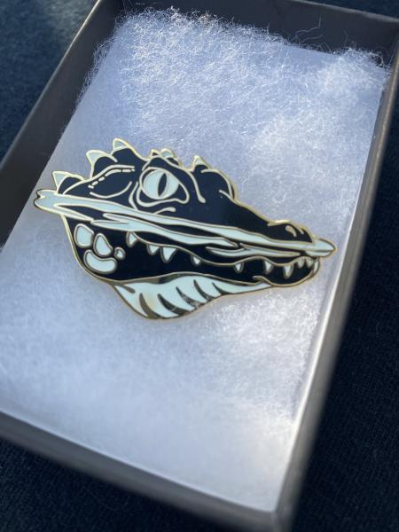"Night Eyes (Croc) 2"" Pin"