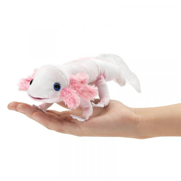 "Axolotl Finger Puppet (9"" Long 4"" Wide 3"" High)"