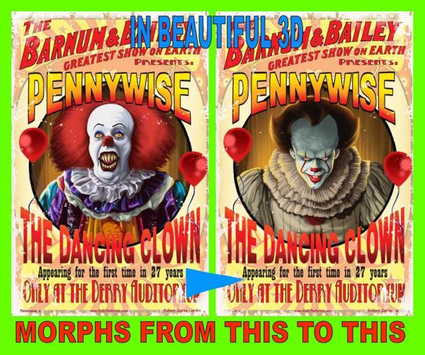 The Pennywise Lenticular print