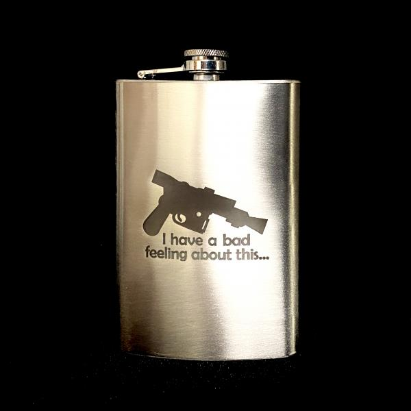 Bad Feeling 8oz Flask
