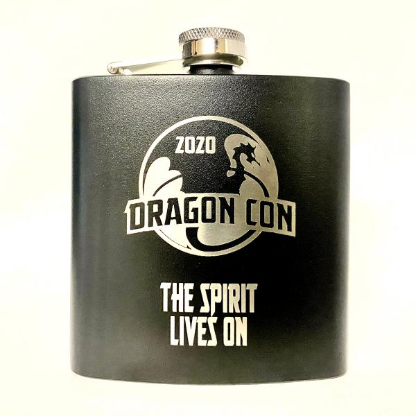 "2020 Dragon Con flask - ""The Spirit Lives On"""