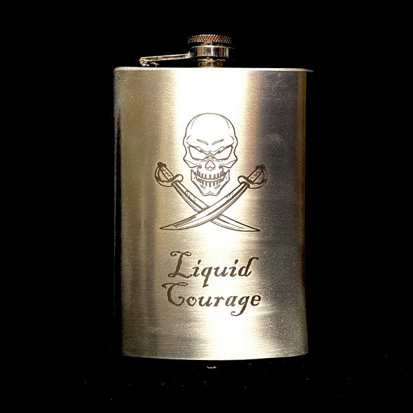 Liquid Courage 8oz Flask