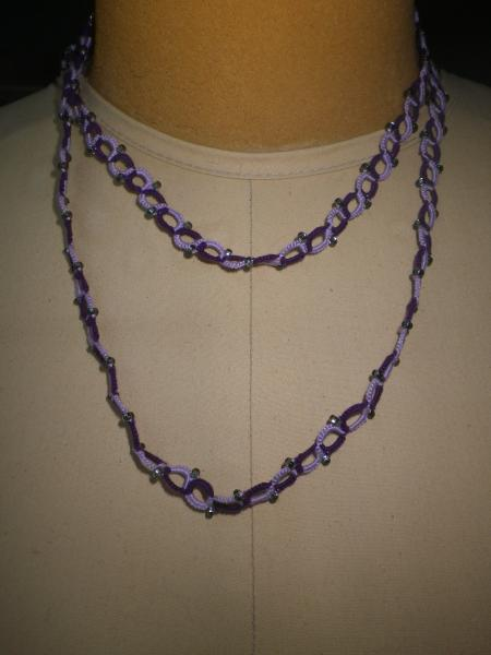 Purple and Lavender Opera length necklace picture