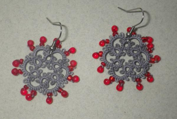 Coronavirus earrings