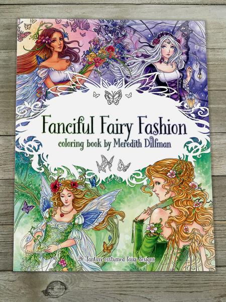 Fanciful Fairy Fashion Coloring Book