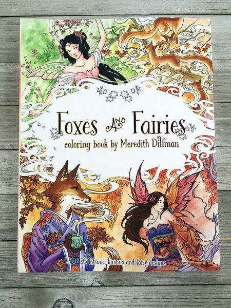 Foxes and Fairies Coloring Book