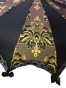 Brown & Gold Damask Pattern Parasol/Umbrella