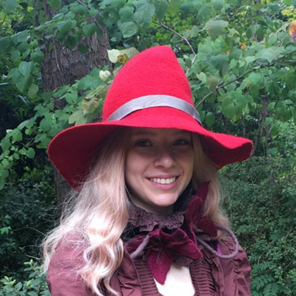 Bard, Simple Witch or Wizard Hat Red