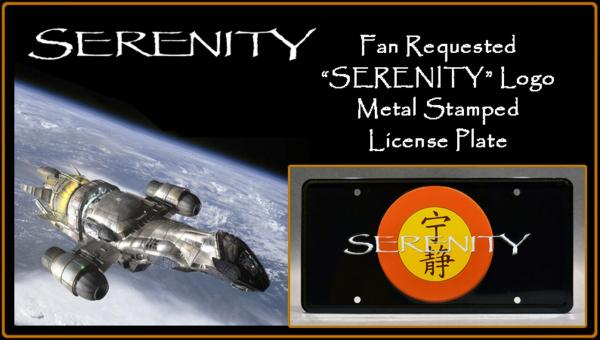 """Serenity"" Stamped License Plate"