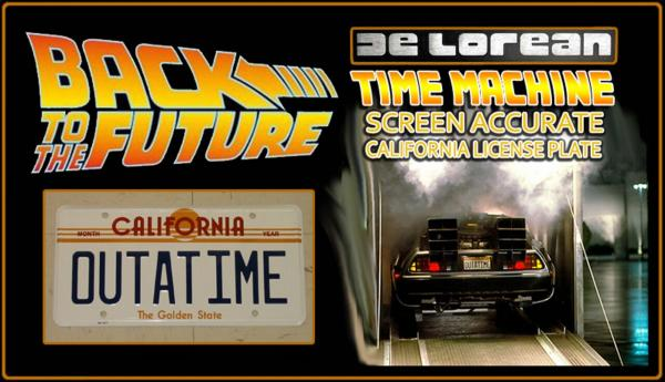 "Back to the Future ""OUTATIME"" License Plate"