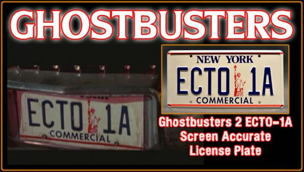 "Ghostbusters ""ECTO 1A"" License Plate"