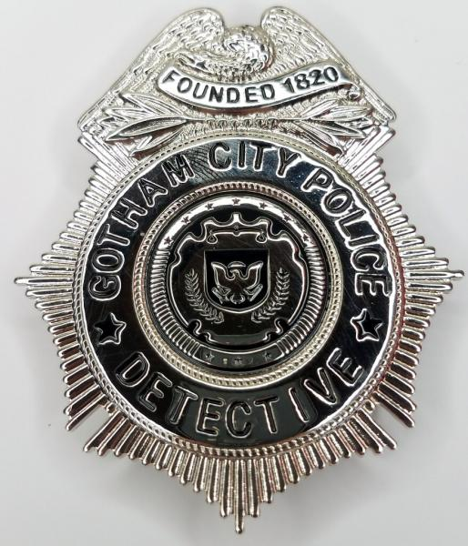 GOTHAM: Before the Legend - City of Gotham (GCPD) - Detective Police Department Prop Replica Badge w/Holder