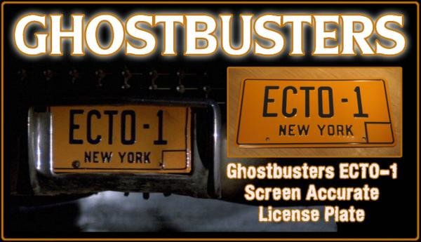 "Ghostbusters ""ECTO-1"" License Plate"