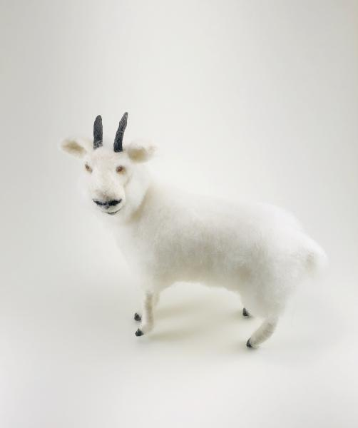 Needle Felted Rocky Mountain Goat