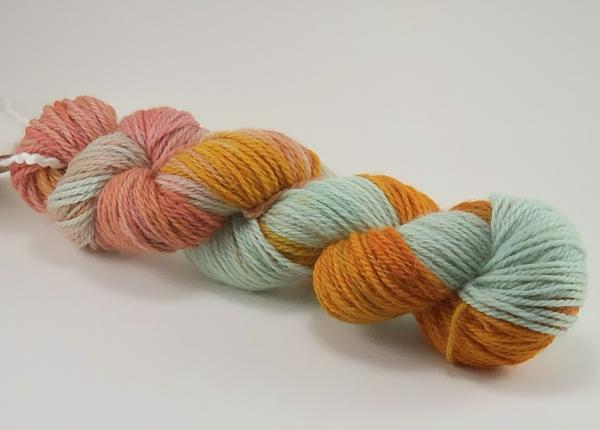 USA grown Superwash Wool Yarn, Worsted Weight, Hand Dyed, Indie Dyed